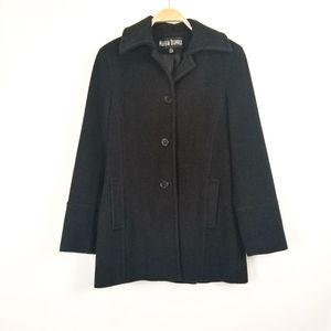 Marvin Richards   Wool Cashmere Blend Black Coat
